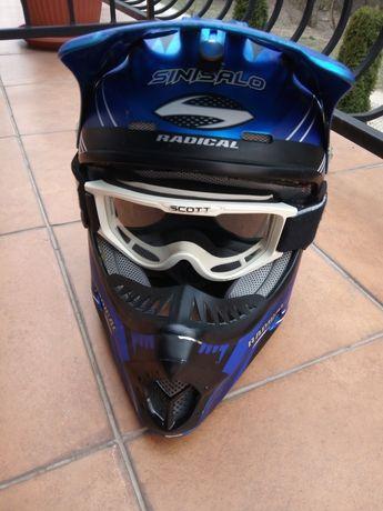 Kask moto cross Sinisalo Radical Rozm.M
