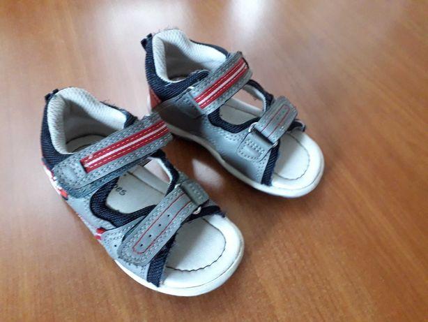 Sandałki kolor szaro czerwony rozmiar 22 Bobbi Shoes