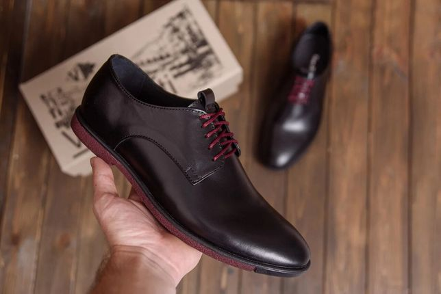 Мужские кожаные туфли классика VanKristi 500