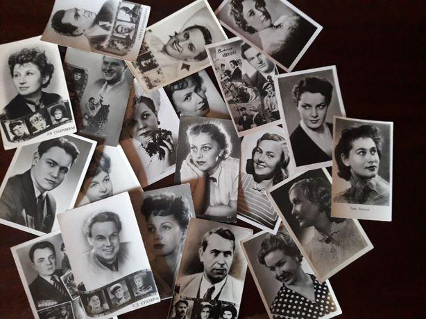 Открытки. Актеры. 1953-60 гг. Не подписанные. 40 шт.