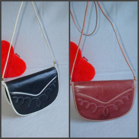 Кожаная сумочка через плечо бренд gianni conti италия 100% кожа