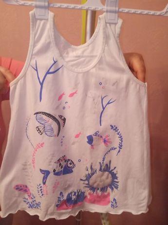 майка, футболка, на девочку 9-11 год