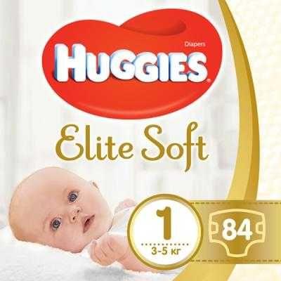 Подгузник Huggies Elite Soft 1 Mega 84 шт