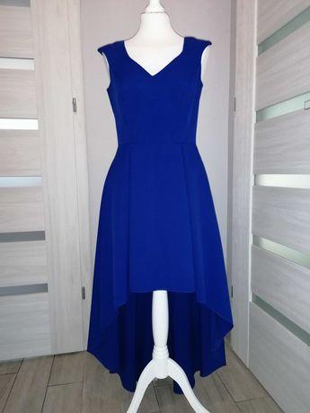 Kobaltowa sukienka rozm 38