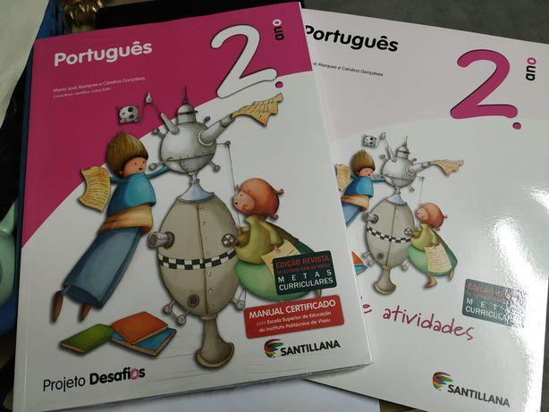 Manual escolar português 2ano projeto desafios NUNCA USADO