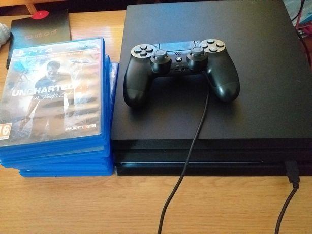 PS4 Pro 1 TB com 32 jogos Oportunidade unica