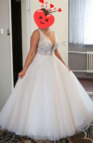 Suknia Slubna ivory-brzoskwiniowa