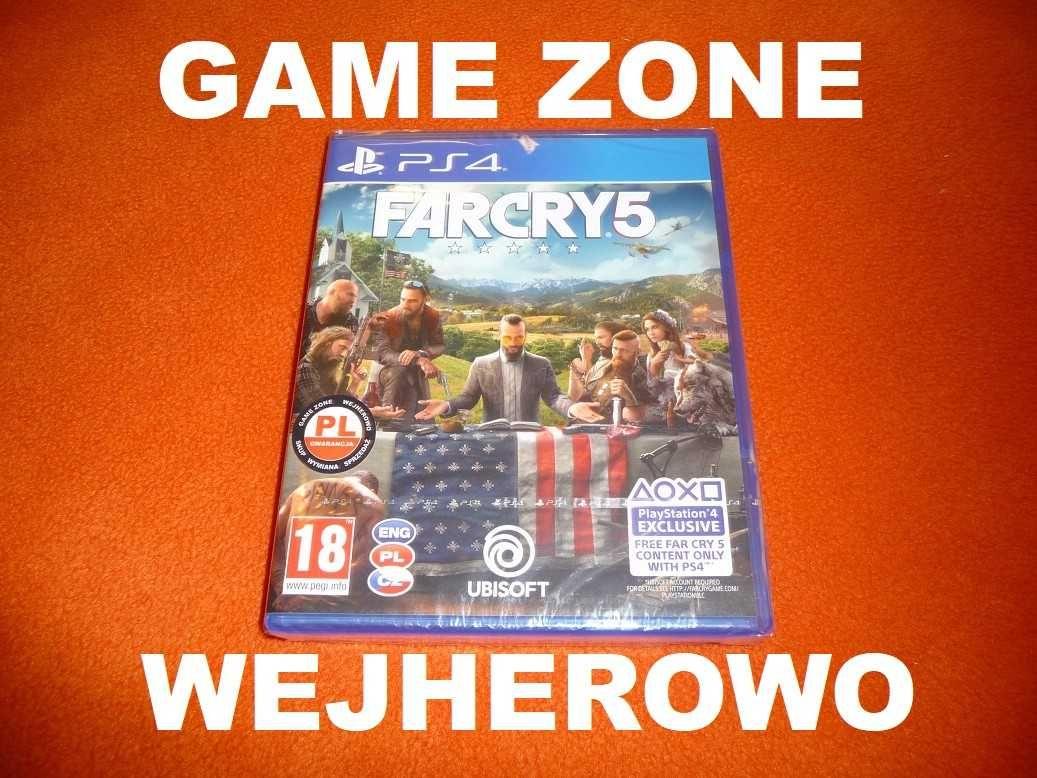 Far Cry 5 PS4 / Slim / Pro / PS5 / PŁYTA PL Wejherowo
