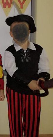 Strój pirata, przepaska  na oko, kapelusz i miecz w zestawie