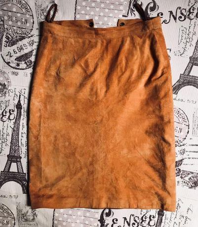 Классная замшевая юбка Италия