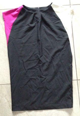 Sukienka czarne ecru róż M ORSAY sinsay