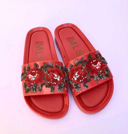 Melissa Beach Slide Flower Pixel   Sandálias Chinelo