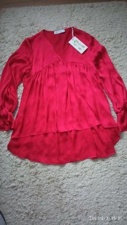 elegancka czerwona bluzka M