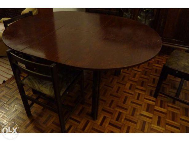 Mesa de sala de jantar em madeira (1,20 ou 1,60 m)