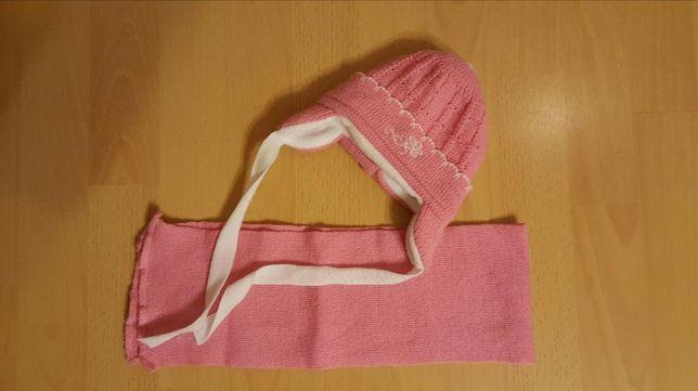 Komplet czapeczka z szalikiem