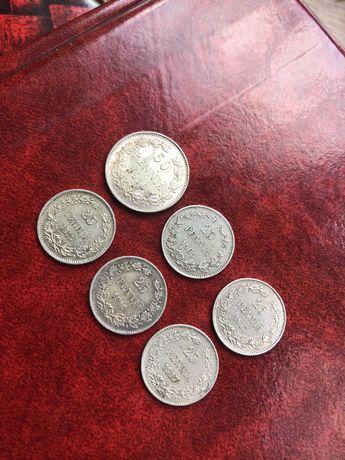 50 и 25 пенни Финляндия (серебро)