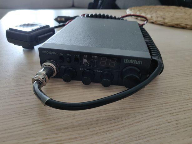 CB radio Uniden PRO 520 XL radiotelefon + gruszka mikrofon 12v RF qain