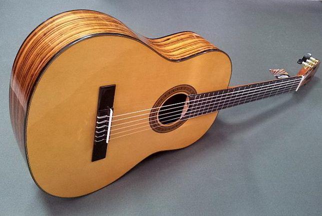 Nowa gitara klasyczna 4/4 Ever Play Zebrano struny Savarez Pszczyna