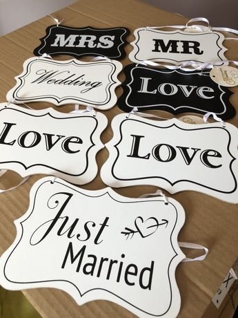 Tabliczki dekoracyjne/ dekoracje ślubne