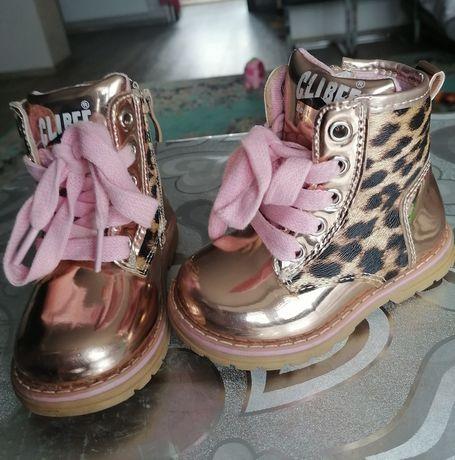 Buty botki dla dziewczynki śliczne przejściówki 21