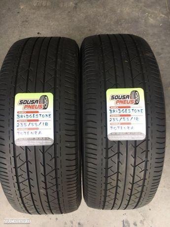 2 pneus semi  novos bridgestone 235/55/18 - Entrega grátis