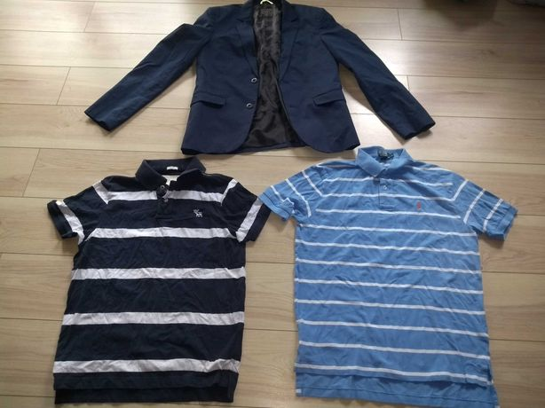 Polo Ralph Lauren Abercrombie and fitch L marynarka review granatowa