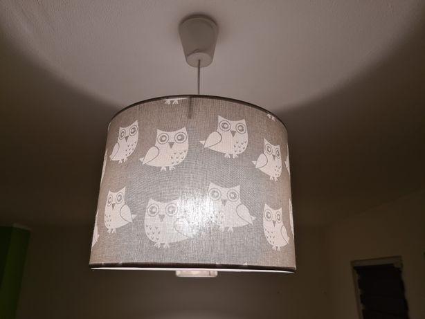 Lampy wiszące szare sowy