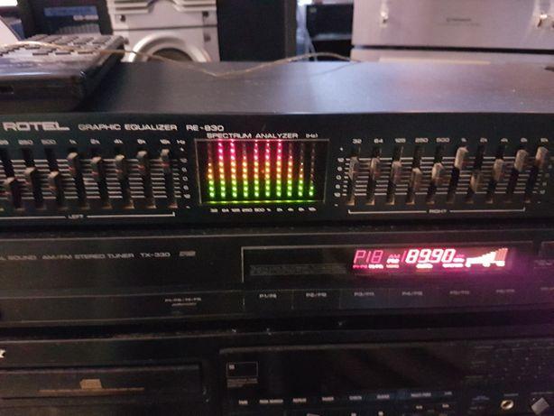 Equalizador ROTEL com analisador de espectro a cores (Vintage)
