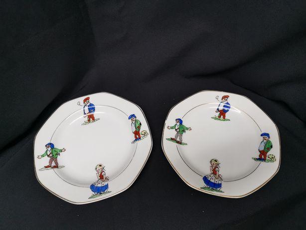 Conjunto de 2 pratos cerâmica Candal