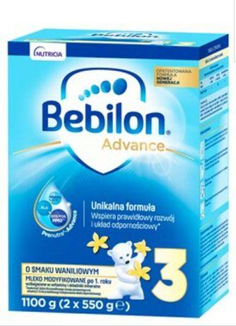 """BEBILON ADVANCE 1100g """"3 o smaku waniliowym"""""""