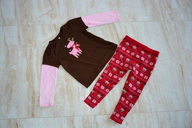 Zestaw świąteczny dla dziewczynki 110 w reniferki