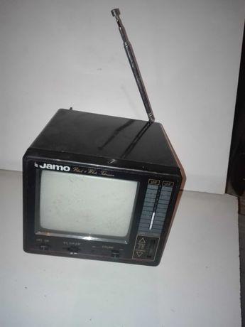 Mini TV e rádio antigo de coleção