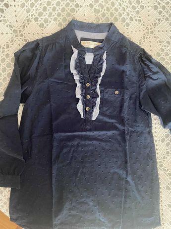 Camisa azul escura Zara