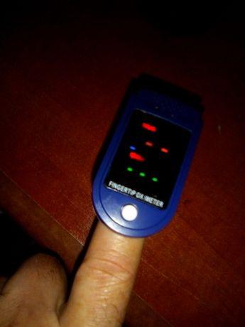 Oximetro de dedo e oxigénio