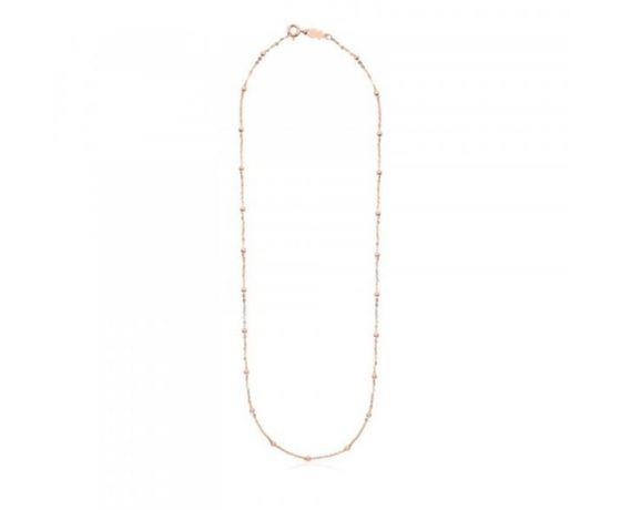 Tous nowy oryginalny naszyjnik Chain rozowe zloto 45cm