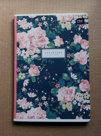 zeszyt z kwiatową okładką, czyste kartki, A5 [#59]
