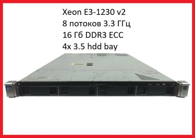 Сервер HP 320e Gen8 Xeon E3-1230 V2 4/8 3.3/3.7 16Gb Под 1С из Германи