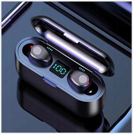 Słuchawki F9 bezprzewodowe POWER-BANK 2000mAh BT