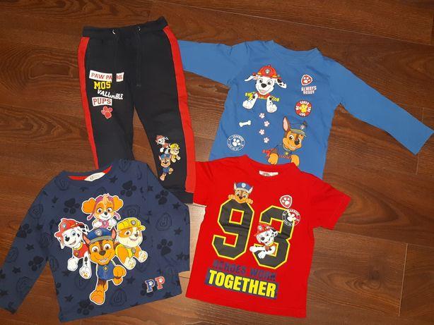 Psi patrol r 98/104 H&M Pepco spodnie dresy bluzka koszulka t-shirt