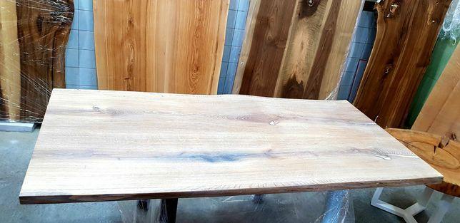 Стол из слэба (белёный дуб) Авторськие изделия из дерева. Мебель LOFT