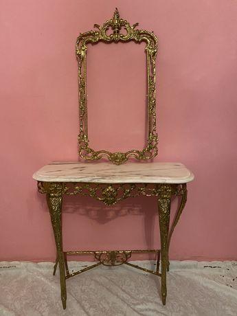 Консоль з дзеркалом бронза латунь антикваріат