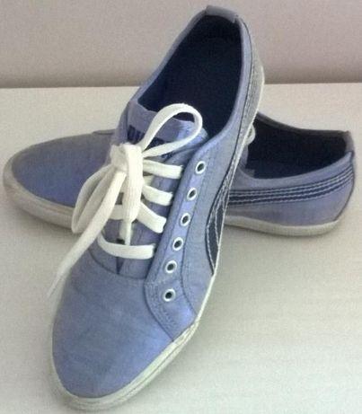 buty sportowe tenisówki trampki niebieskie puma