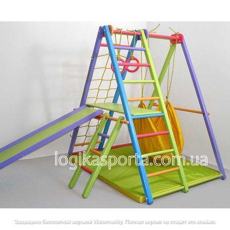Детский складной спортивный комплекс, качели, горка, игровая площадка