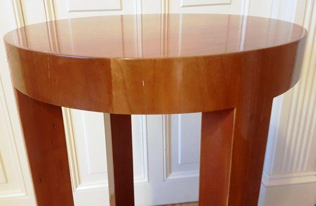 nowy, stolik kawowy 100% drewniany, czereśnia