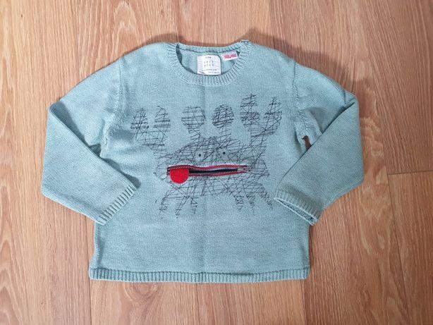 Sweterek zara 98 z krabem