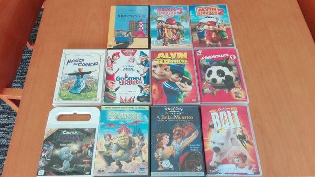 Pack DVDs Infantis - 11 unidades