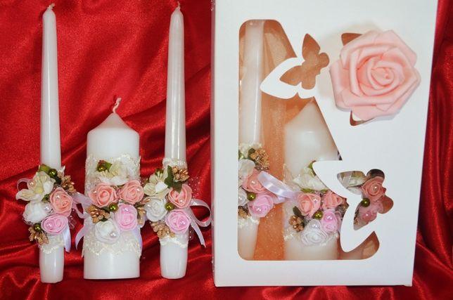 """Свадебные свечи """" Семейный очаг"""" в коробке.Подсвечник свадебный. Выбор"""