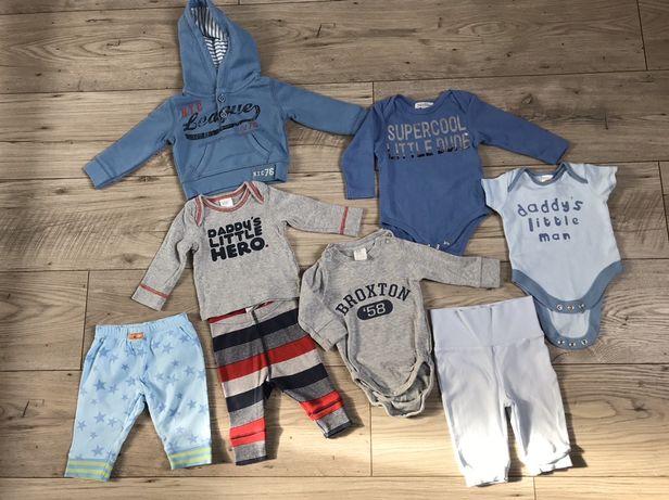 Ubranka,zestaw 8szt,H&M i in.,r.56,chłopiec