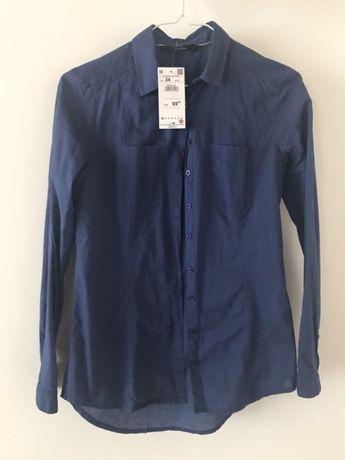 niebieska = granatowa Koszula reserved rozmiar 34