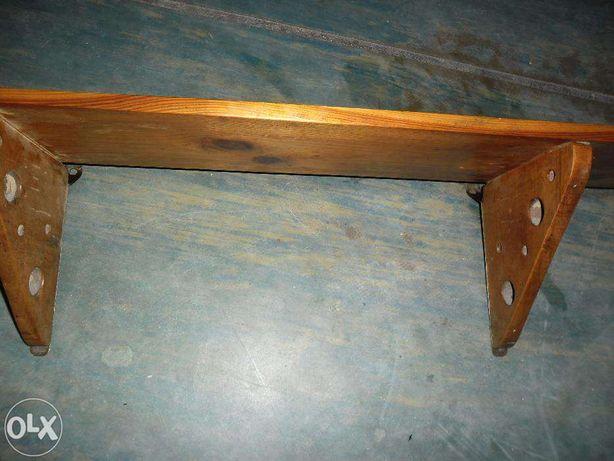 półka na ścianę lite drewno